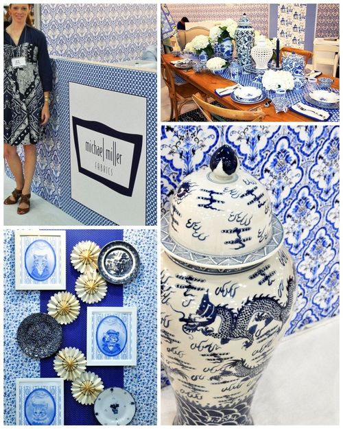 Blue and White Collage