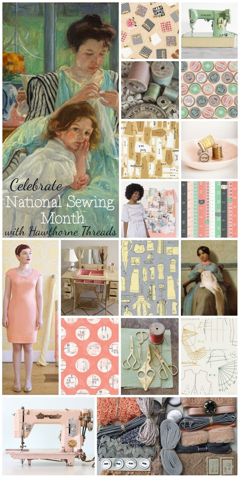 National Sewing Month Inspiration Collage 2