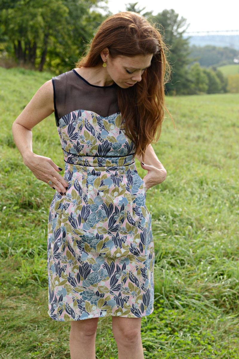 Moonlit Fabric Macaron Dress with Pockets