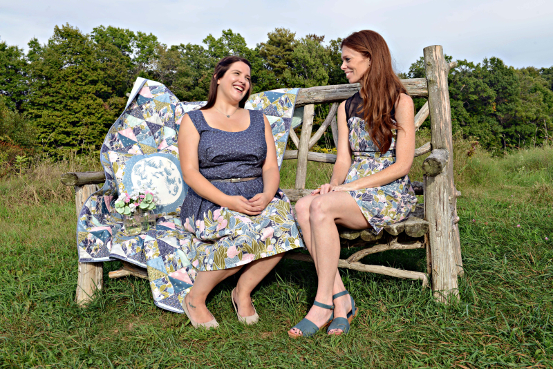 Moonlit Fabric Photo Shoot with Quilt