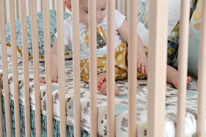 Redwood Fabric Crib Sheet