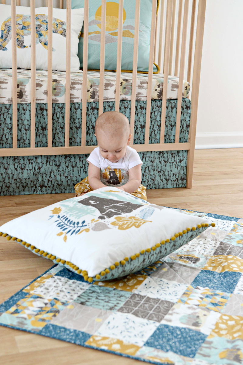 Redwood Fabric Quilt and Pillow