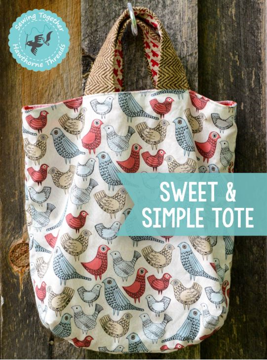 Sweet and Simple Tote Cover
