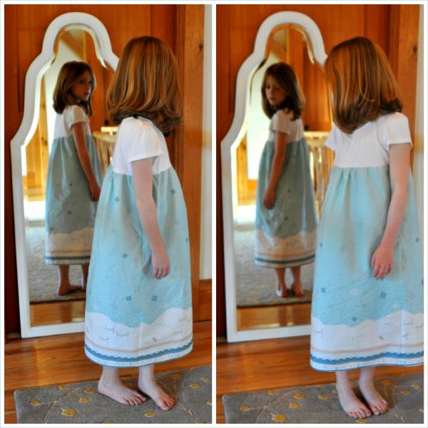 Fair Isle Nightgown Collage