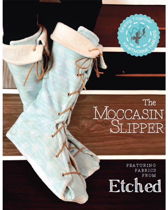 Sewing Together - Moccasin Slippers - Hawthorne Threads Blog