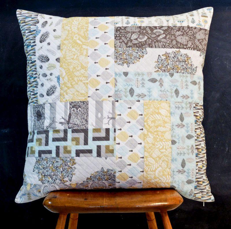 Norwegian Wood Pillow Telafante and Hawthorne Threads