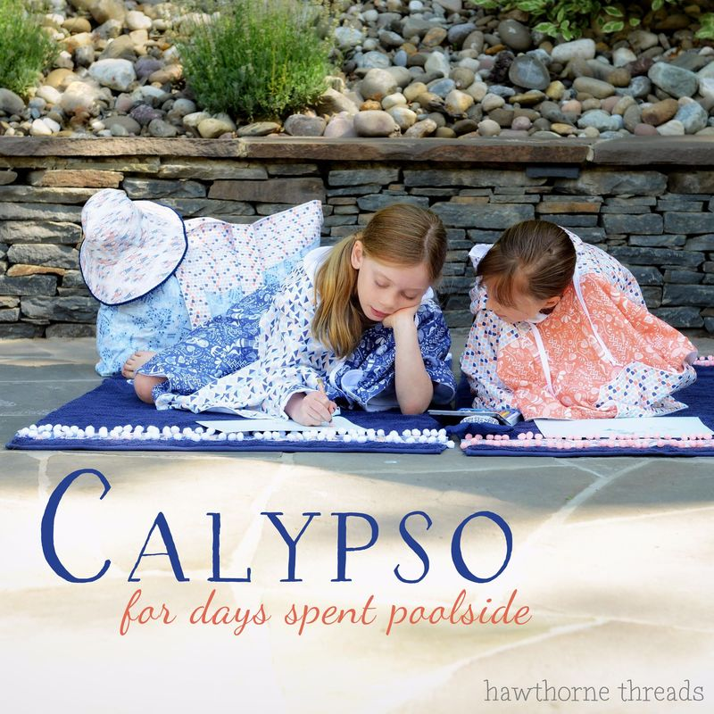 Calypso Ponchos Poolside