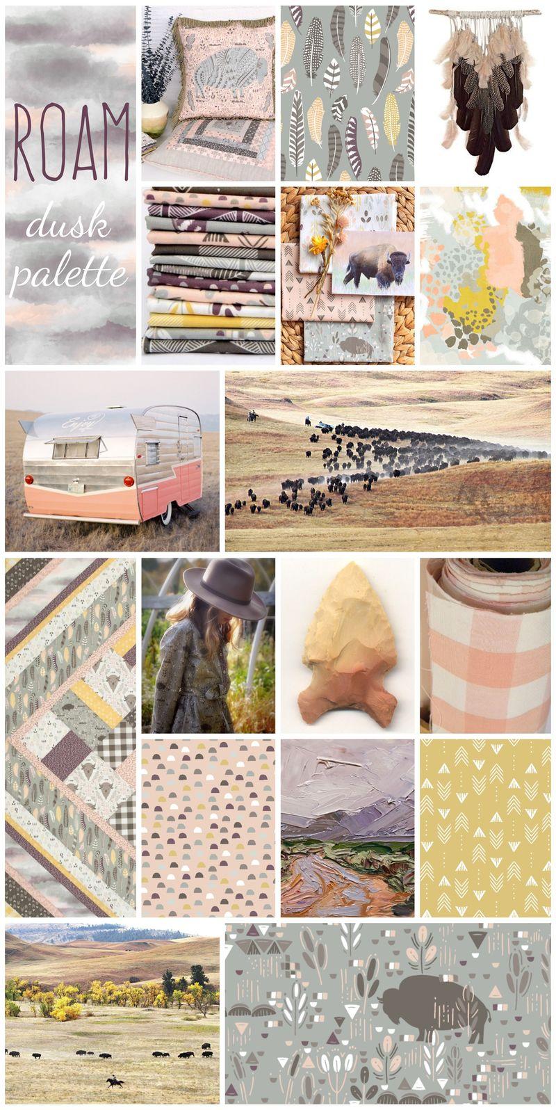 Roam in Dusk Palette Collage Poster Final
