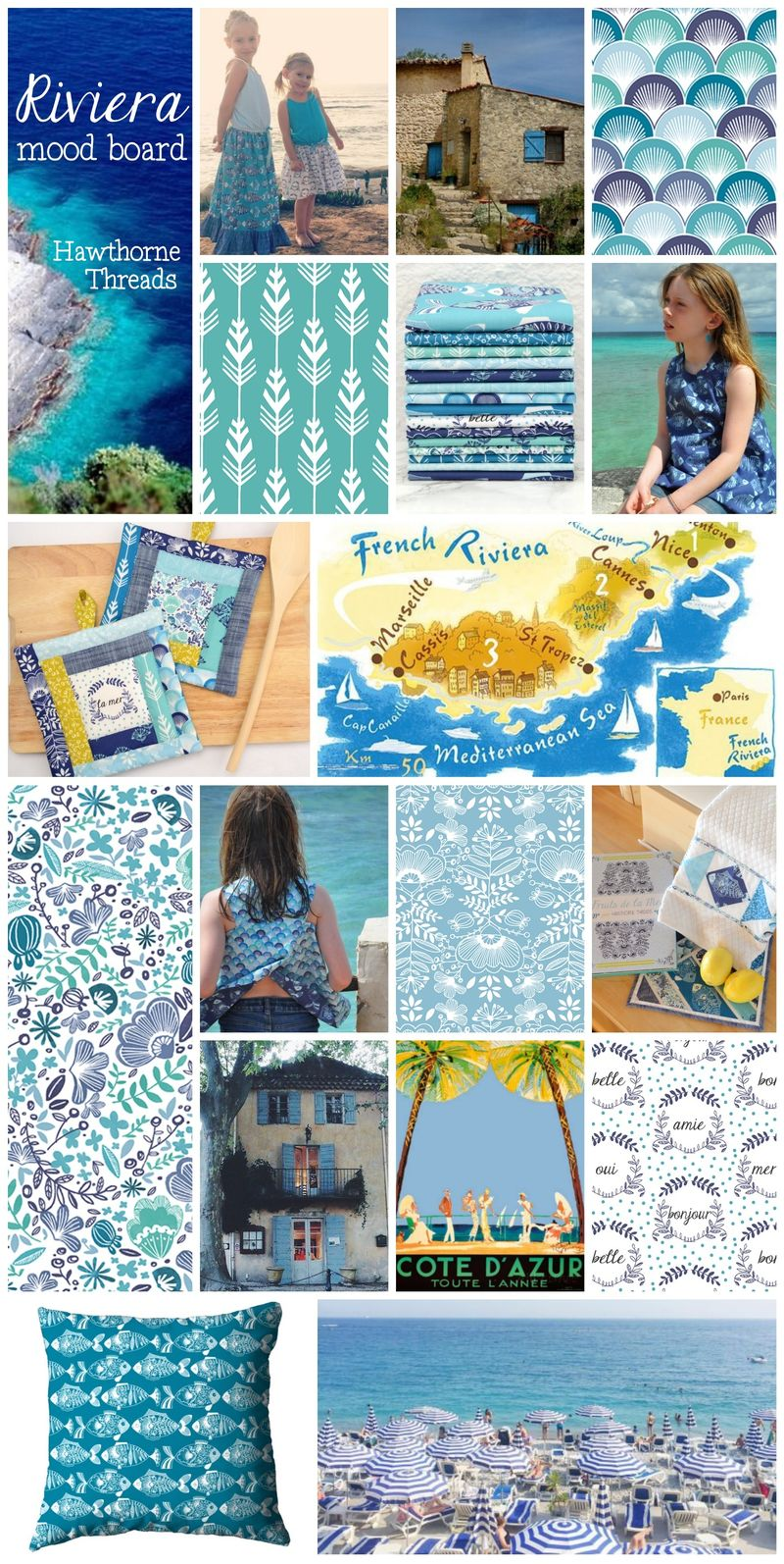 Riviera Mood Board in Mediterranean