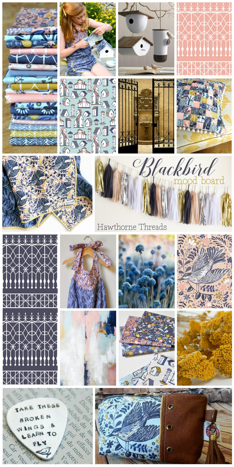 Blackbird fabric Mood Board