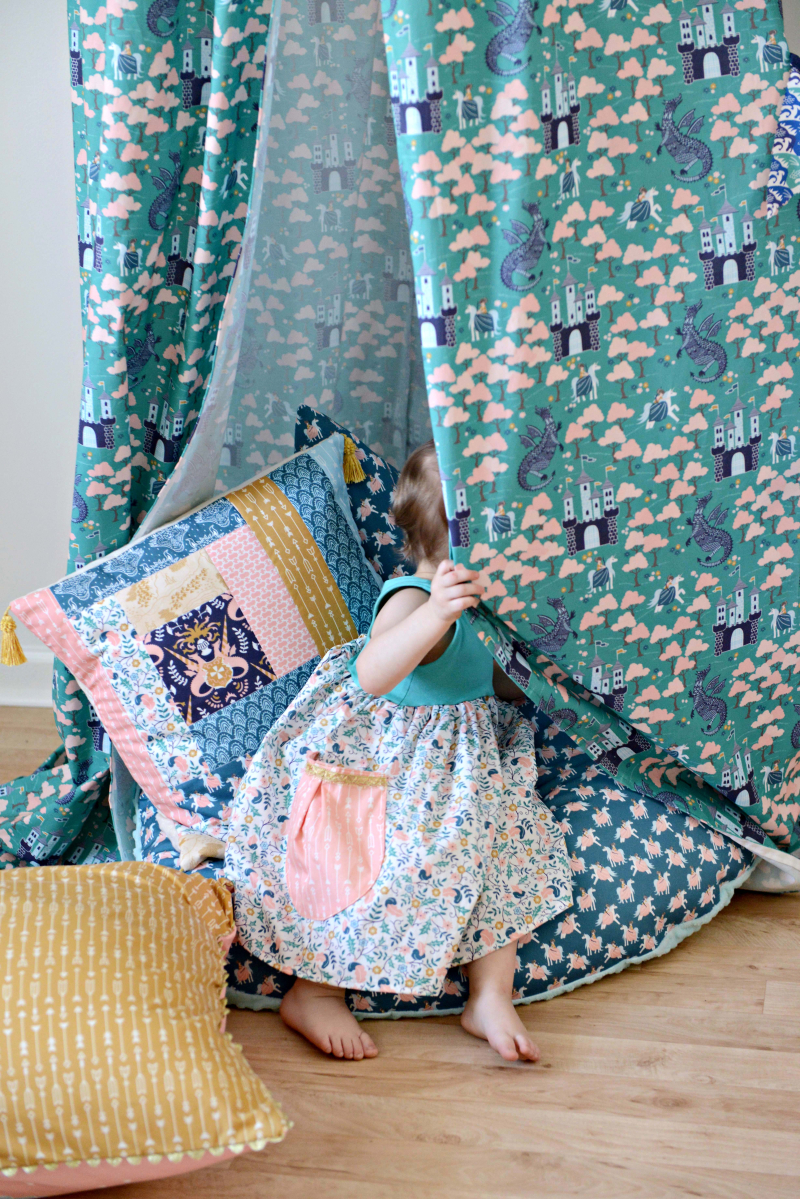 Brave Fabric Reading Nook