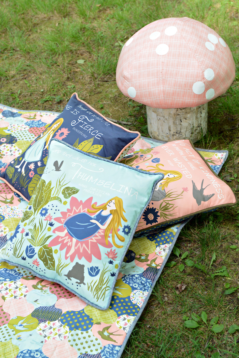 Thumbelina Fabric Quilt and Pillows