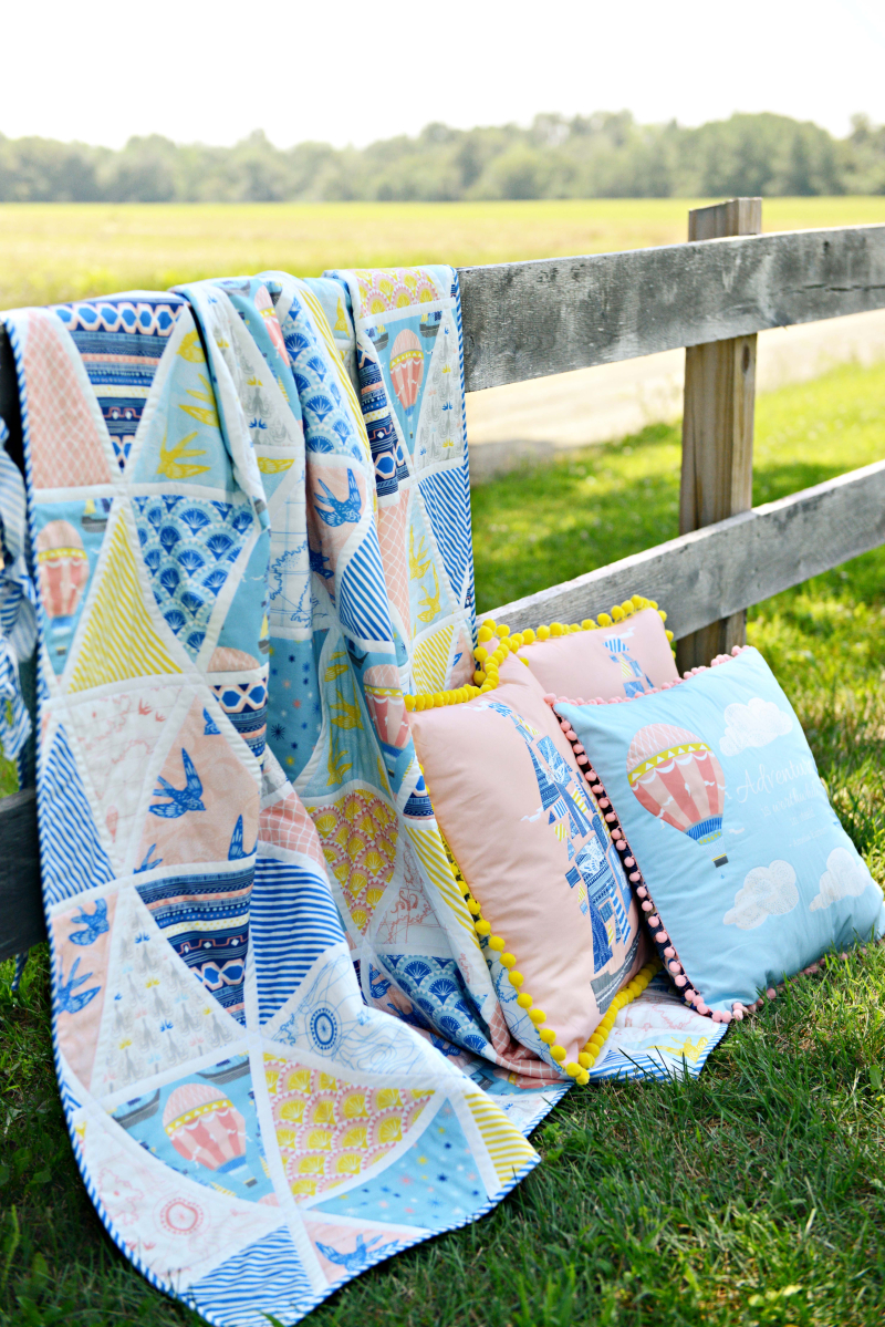 Voyager Quilt and Pillows