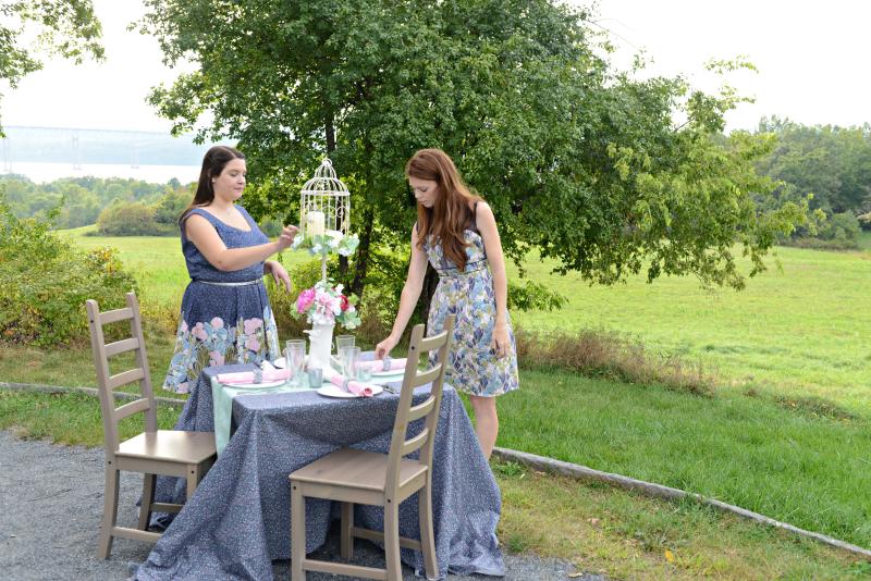 Moonlit Fabric Garden Shoot