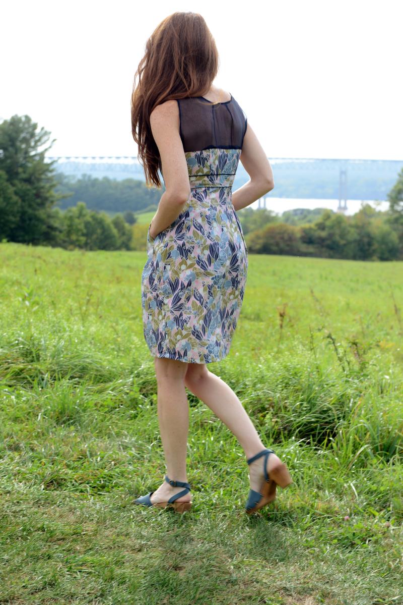 Moonlit Fabric Macaron Colette Dress Back