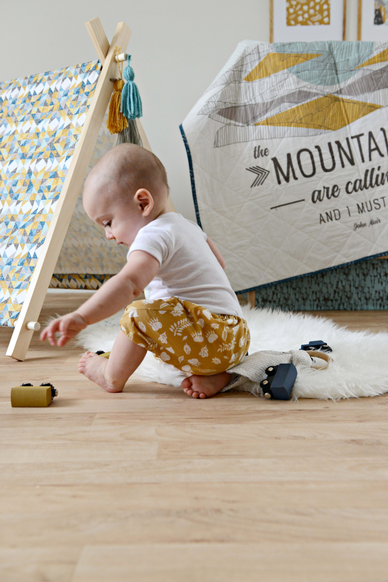Redwood Fabric Mountains are Calling Crib Quilt b
