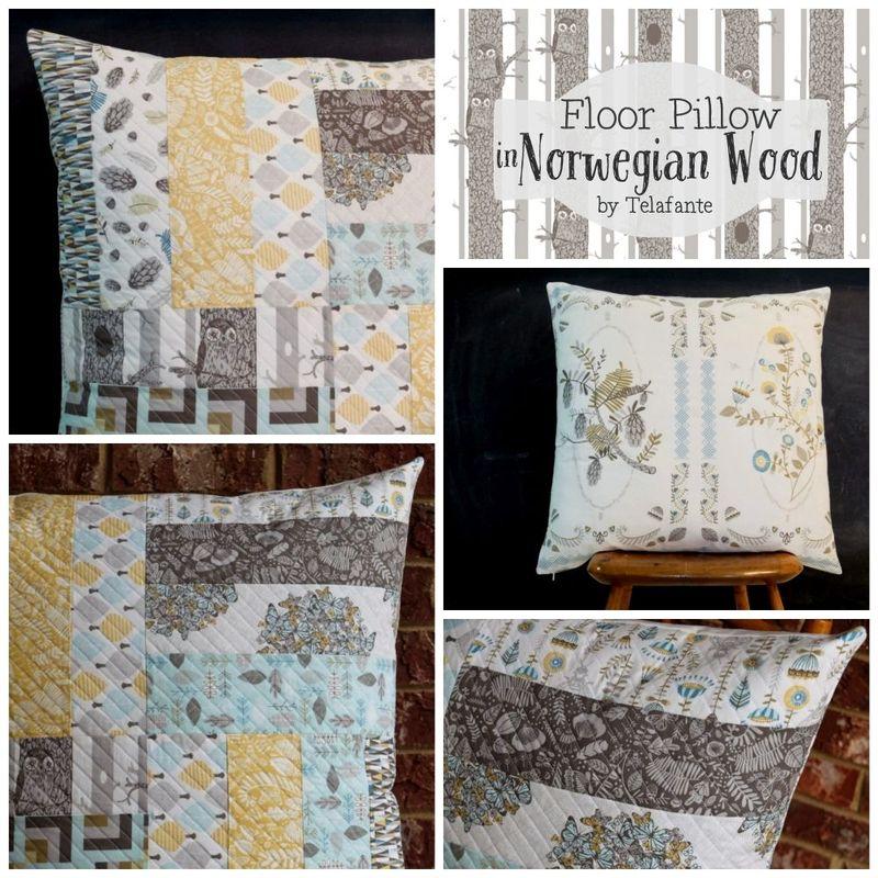 Norwegian Wood Floor Pillow by Telafante