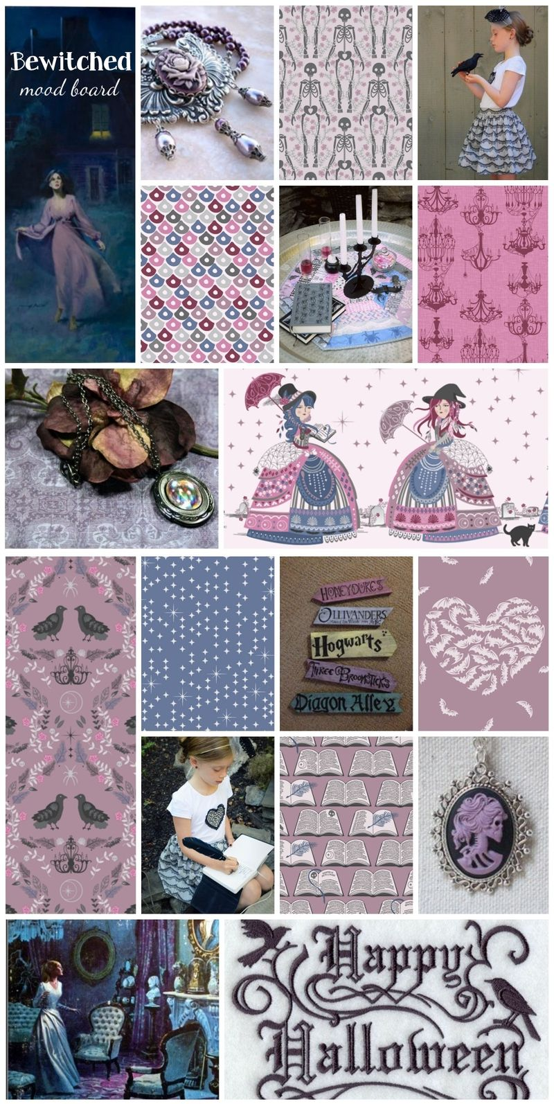 Bewitched Fabric Collage