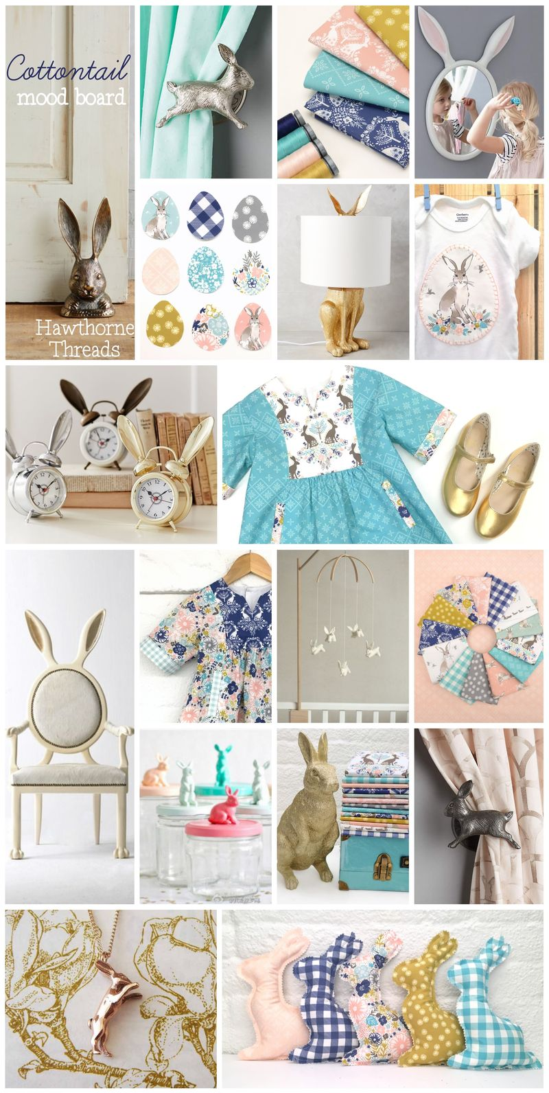 Cottontail Fabric Mood Board