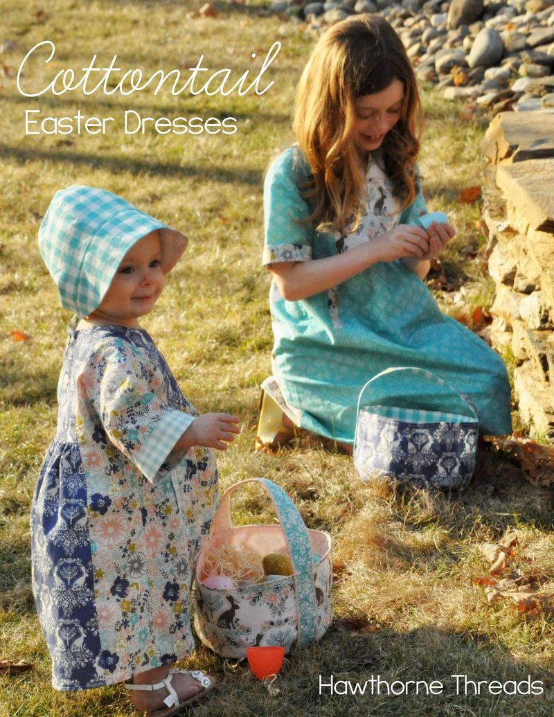 Cottontail Fabric Easter Dresses