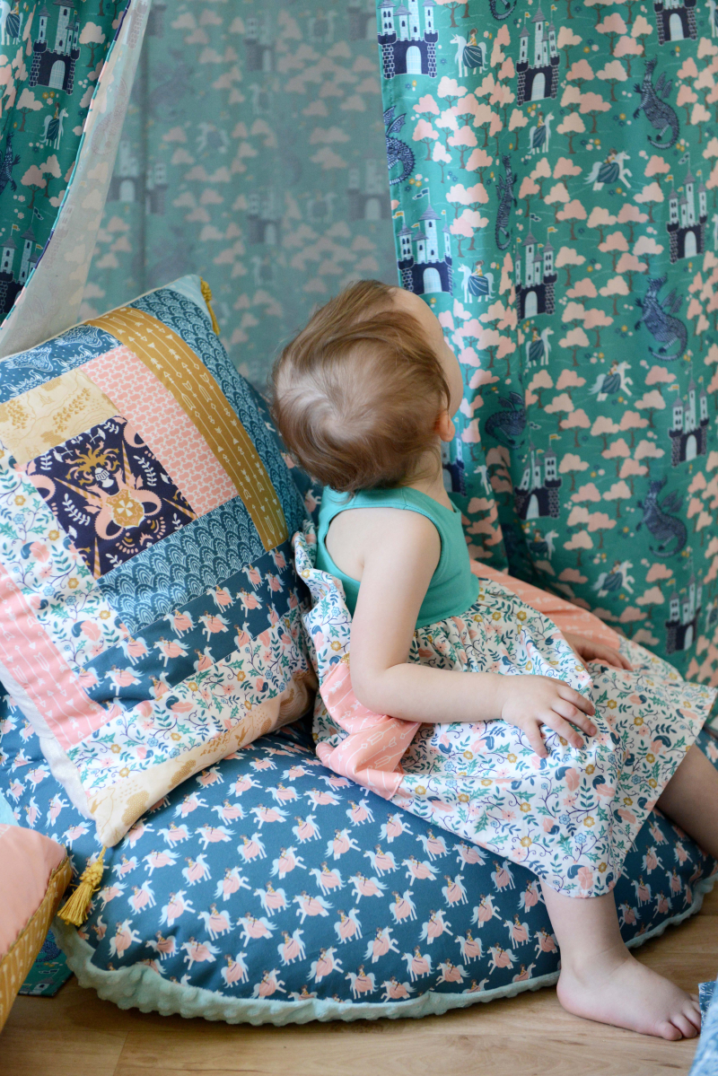 Brave Fabric Reading Nook Bean Bag Chair