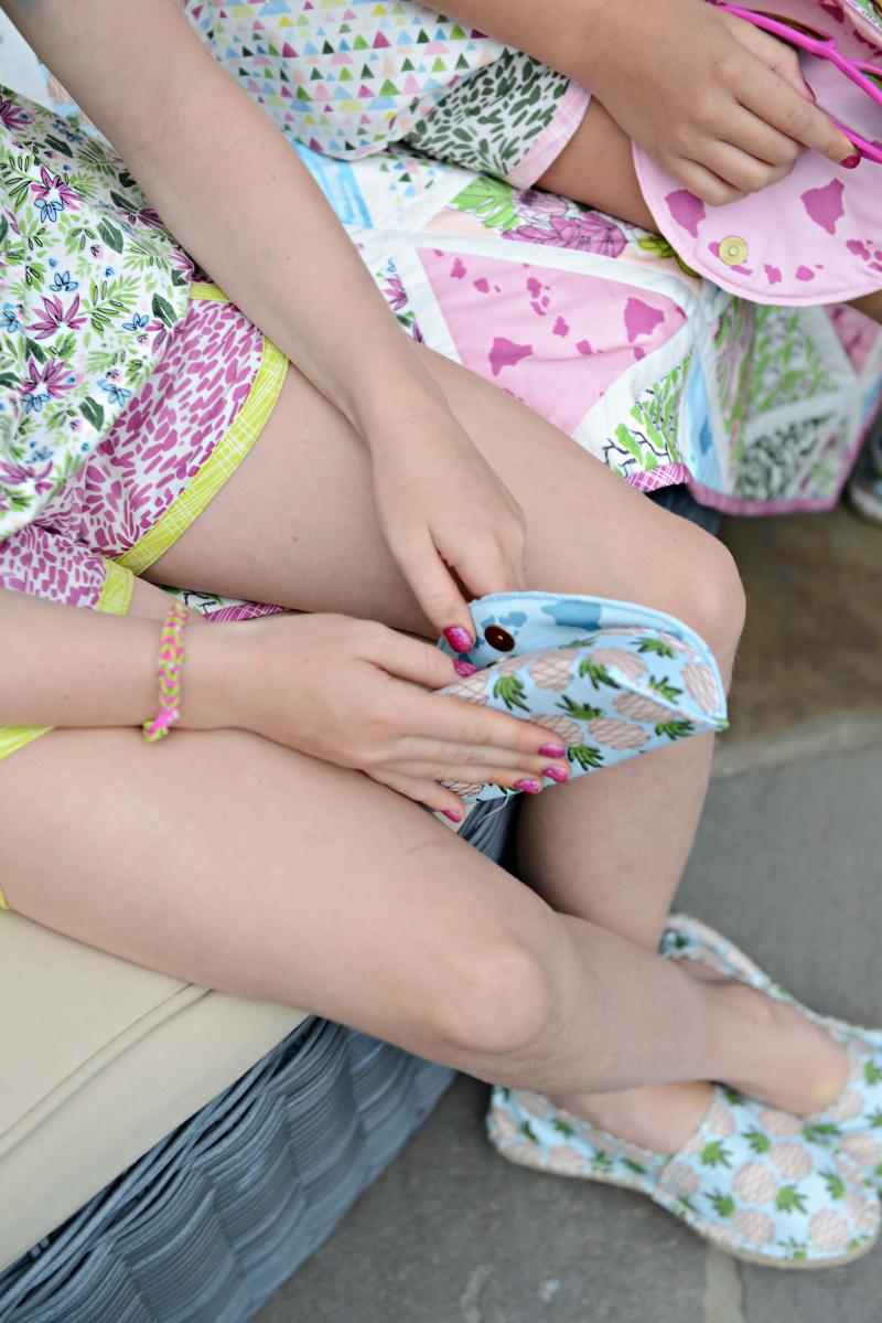 Aloha Fabric Sewing Inspiration Sunglasses Case