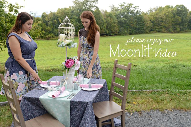Moonlit Fabric Photo Shoot
