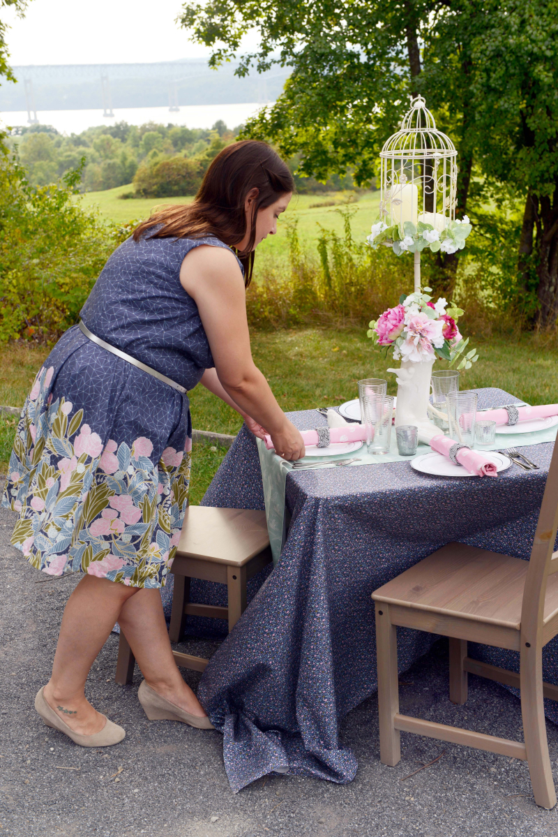 Moonlit Fabric Occasion Table Wedding DIY
