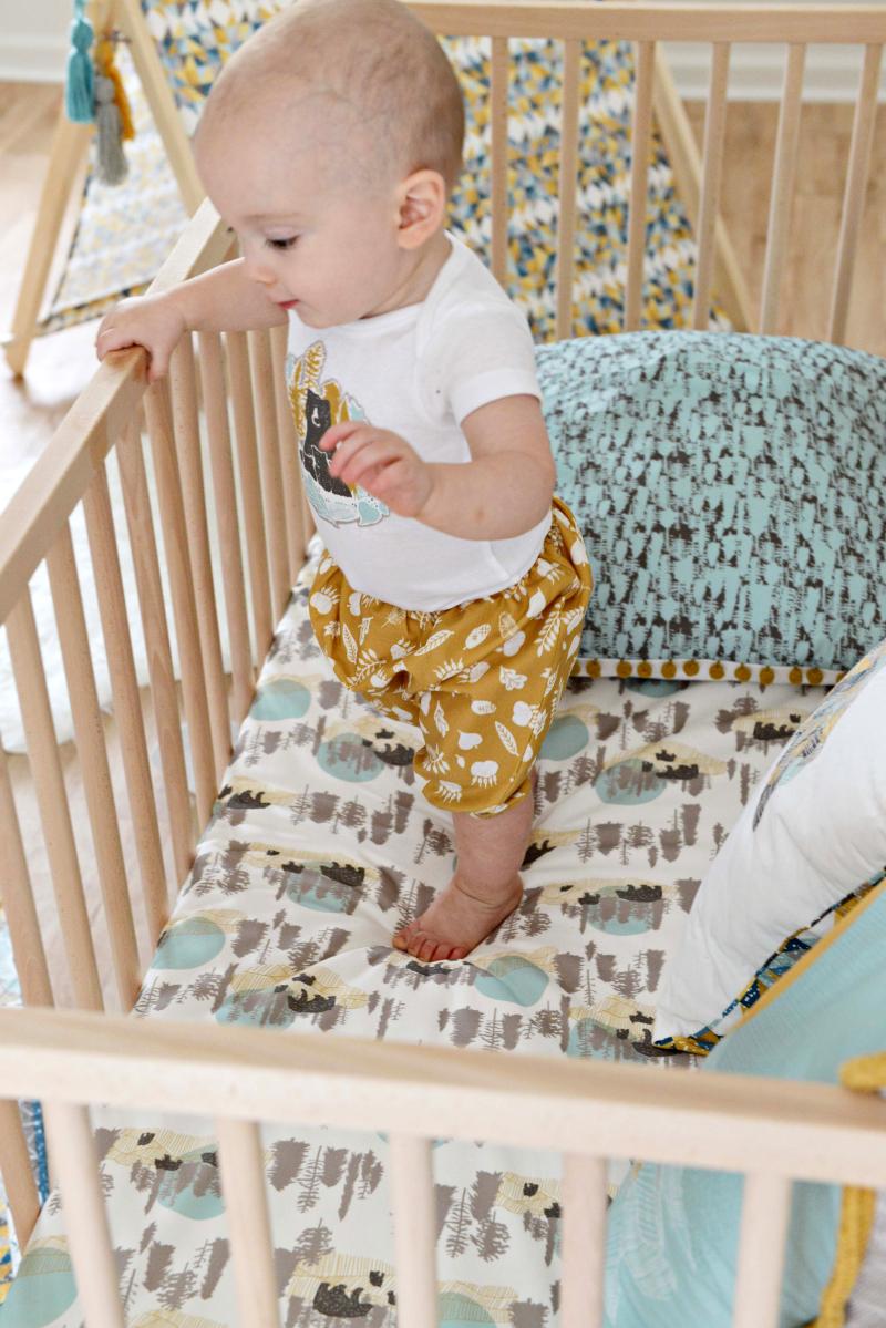 Redwood Fabric Baby Crib Sheet