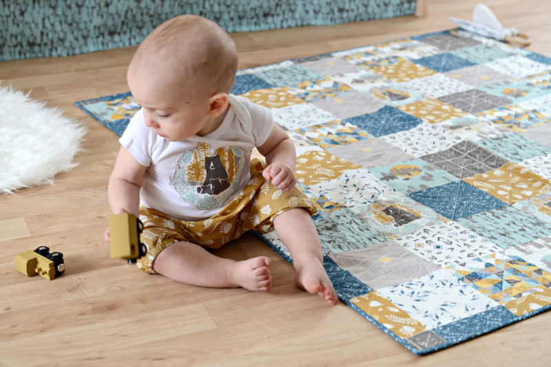 Redwoof Fabric Boys Woodland Nursery Quilt