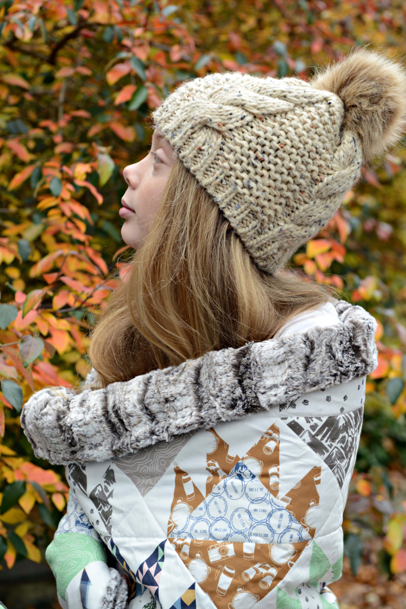 Hawthorne Supply Co Mountain Road Trip Fabric Sew To Grow Pajama Photo Bear Paw Quilt