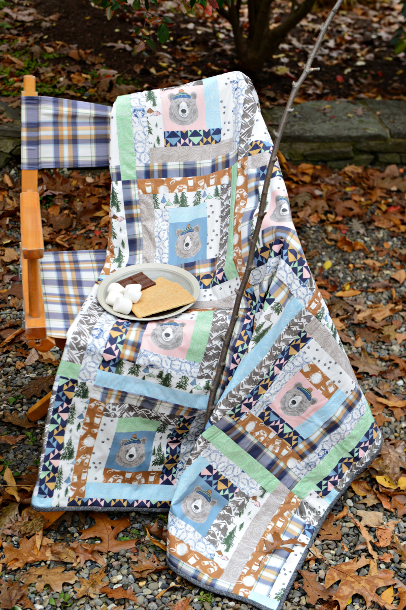 Hawthorne Supply Co Mountain Road Trip Fabric Sew To Grow Pajama Photo (9)