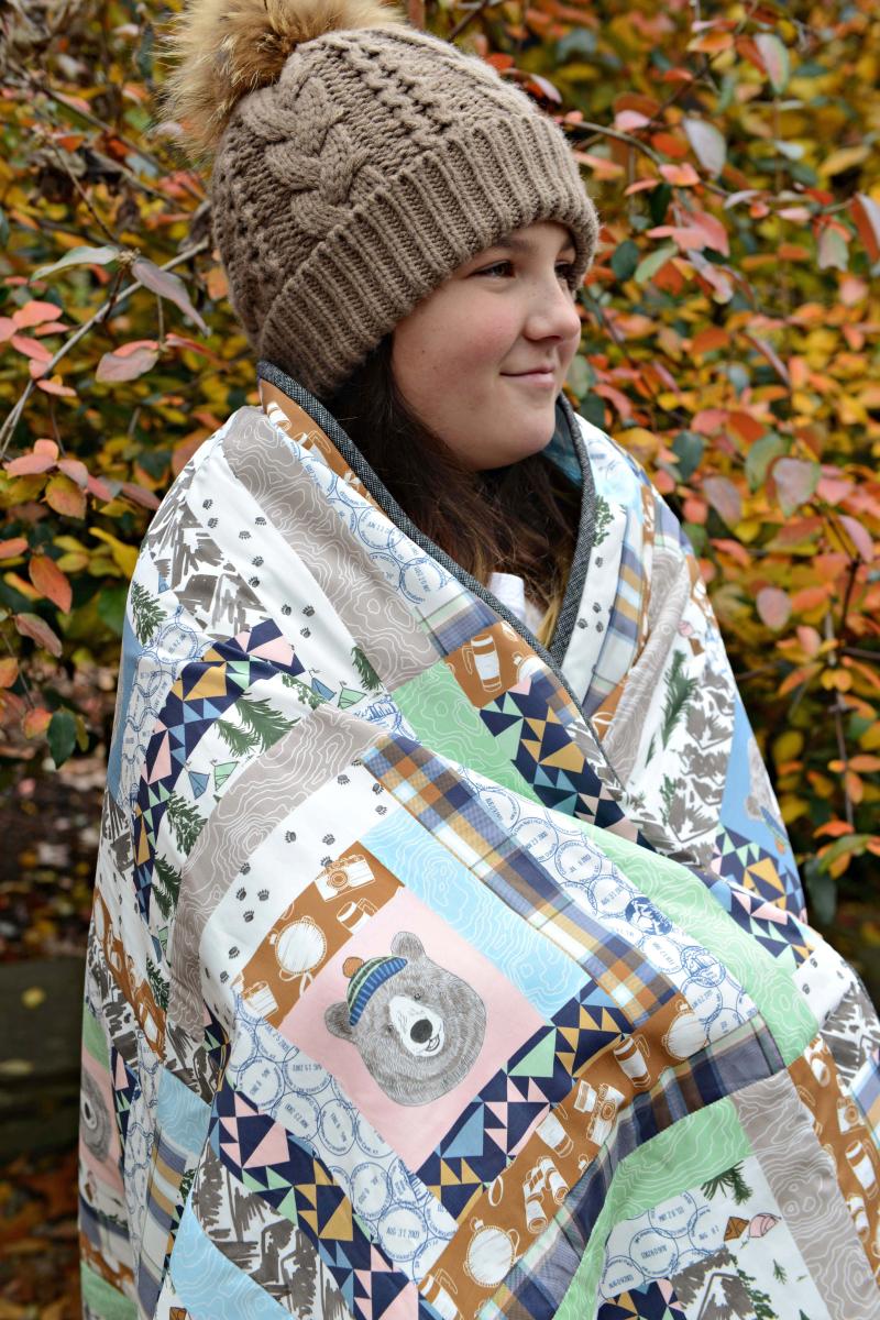 Hawthorne Supply Co Mountain Road Trip Fabric Sew To Grow Pajama Photo (14)